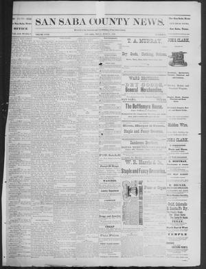 Primary view of object titled 'The San Saba County News. (San Saba, Tex.), Vol. 18, No. 31, Ed. 1, Friday, June 17, 1892'.