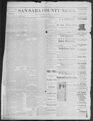 Primary view of object titled 'The San Saba County News. (San Saba, Tex.), Vol. 18, No. 32, Ed. 1, Friday, June 24, 1892'.