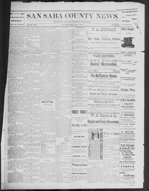 Primary view of object titled 'The San Saba County News. (San Saba, Tex.), Vol. 18, No. 33, Ed. 1, Friday, July 1, 1892'.