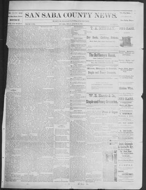 Primary view of object titled 'The San Saba County News. (San Saba, Tex.), Vol. 18, No. 40, Ed. 1, Friday, August 19, 1892'.