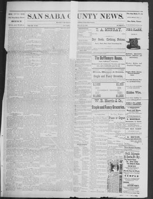 Primary view of object titled 'The San Saba County News. (San Saba, Tex.), Vol. 18, No. 41, Ed. 1, Friday, August 26, 1892'.