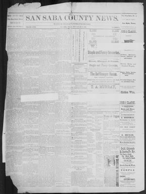 Primary view of object titled 'The San Saba County News. (San Saba, Tex.), Vol. 18, No. 45, Ed. 1, Friday, September 23, 1892'.