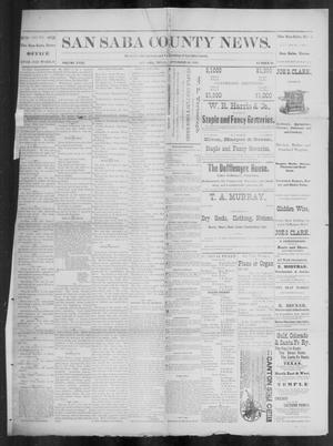 Primary view of object titled 'The San Saba County News. (San Saba, Tex.), Vol. 18, No. 46, Ed. 1, Friday, September 30, 1892'.