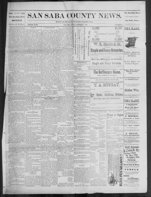 Primary view of object titled 'The San Saba County News. (San Saba, Tex.), Vol. 18, No. 47, Ed. 1, Friday, October 7, 1892'.