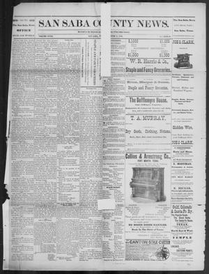 Primary view of object titled 'The San Saba County News. (San Saba, Tex.), Vol. 18, No. 48, Ed. 1, Friday, October 14, 1892'.