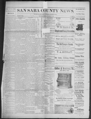 Primary view of object titled 'The San Saba County News. (San Saba, Tex.), Vol. 18, No. 49, Ed. 1, Friday, October 21, 1892'.