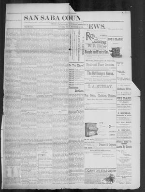 Primary view of object titled 'The San Saba County News. (San Saba, Tex.), Vol. 19, No. 6, Ed. 1, Friday, December 23, 1892'.