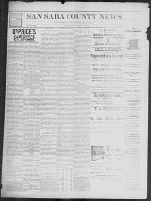 Primary view of object titled 'The San Saba County News. (San Saba, Tex.), Vol. 19, No. 19, Ed. 1, Friday, March 31, 1893'.
