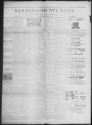 Primary view of object titled 'The San Saba County News. (San Saba, Tex.), Vol. 19, No. 26, Ed. 1, Friday, May 19, 1893'.