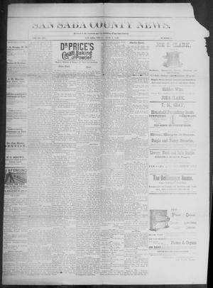 Primary view of object titled 'The San Saba County News. (San Saba, Tex.), Vol. 19, No. 28, Ed. 1, Friday, June 2, 1893'.