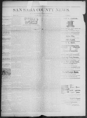 Primary view of object titled 'The San Saba County News. (San Saba, Tex.), Vol. 19, No. 29, Ed. 1, Friday, June 9, 1893'.