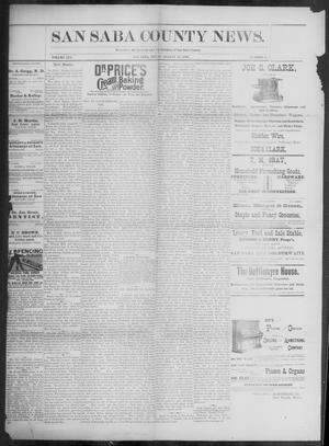 Primary view of object titled 'The San Saba County News. (San Saba, Tex.), Vol. 19, No. 38, Ed. 1, Friday, August 11, 1893'.