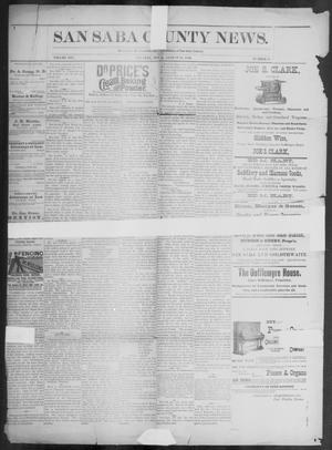 Primary view of object titled 'The San Saba County News. (San Saba, Tex.), Vol. 19, No. 39, Ed. 1, Friday, August 18, 1893'.