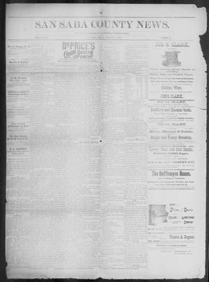 Primary view of object titled 'The San Saba County News. (San Saba, Tex.), Vol. 19, No. 40, Ed. 1, Friday, August 25, 1893'.