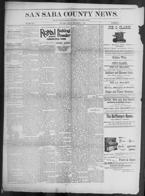 Primary view of object titled 'The San Saba County News. (San Saba, Tex.), Vol. 19, No. 42, Ed. 1, Friday, September 8, 1893'.