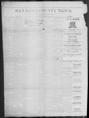 Primary view of object titled 'The San Saba County News. (San Saba, Tex.), Vol. 19, No. 48, Ed. 1, Friday, October 20, 1893'.