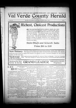 Primary view of object titled 'Val Verde County Herald and Del Rio Record-News (Del Rio, Tex.), Vol. 20, No. 3, Ed. 1 Friday, May 3, 1907'.