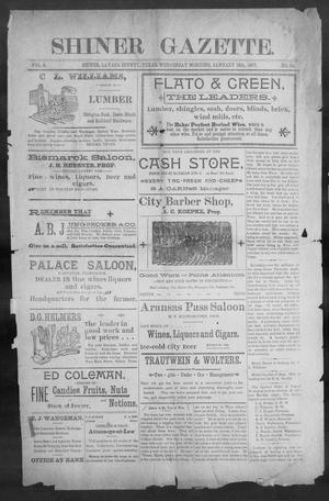 Primary view of object titled 'Shiner Gazette. (Shiner, Tex.), Vol. 4, No. 32, Ed. 1, Wednesday, January 13, 1897'.