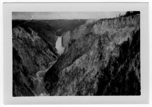 Primary view of object titled '[Lower Yellowstone Falls in Yellowstone National Park]'.