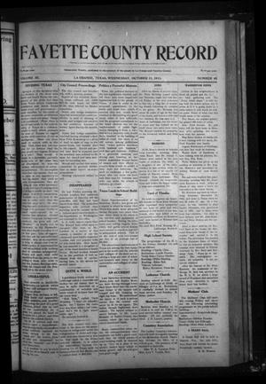 Primary view of object titled 'Fayette County Record (La Grange, Tex.), Vol. 3, No. 15, Ed. 1 Wednesday, October 11, 1911'.