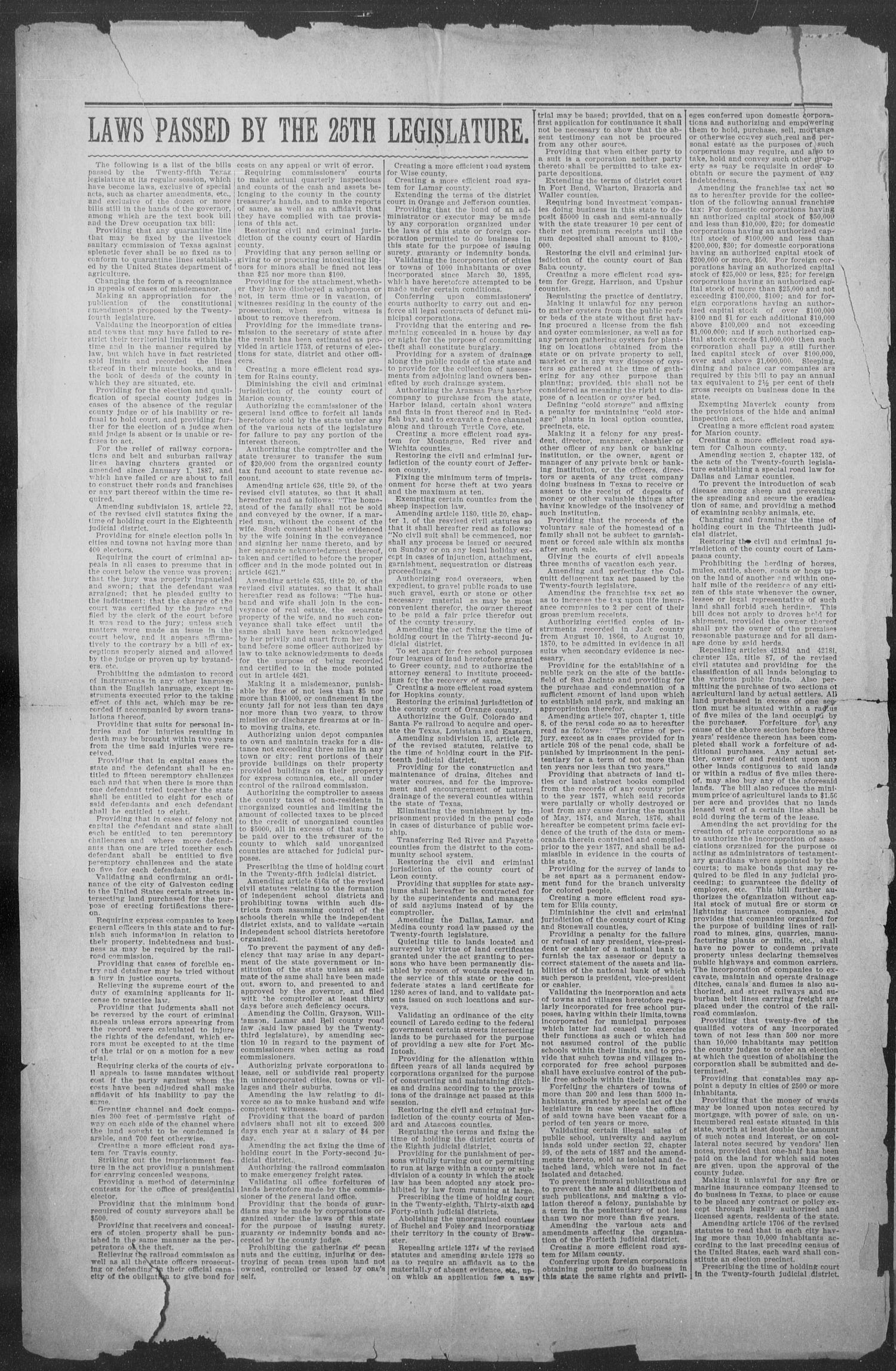 Shiner Gazette. (Shiner, Tex.), Vol. 5, No. 3, Ed. 1, Wednesday, June 16, 1897                                                                                                      [Sequence #]: 2 of 8