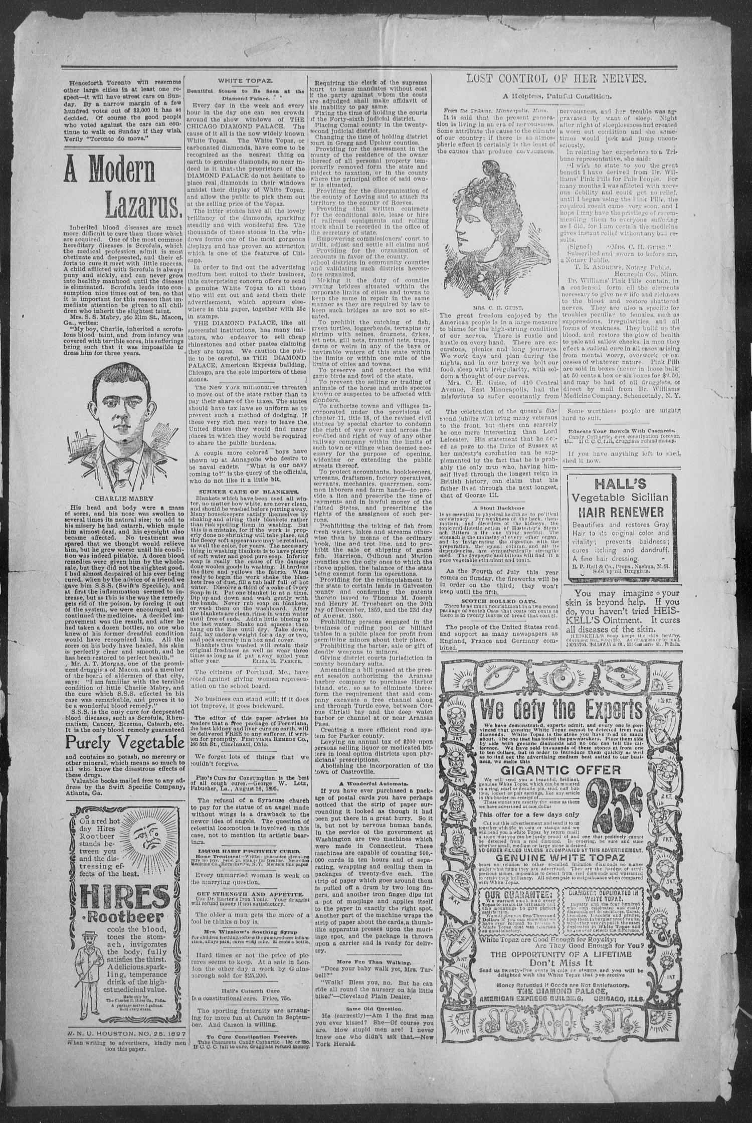 Shiner Gazette. (Shiner, Tex.), Vol. 5, No. 3, Ed. 1, Wednesday, June 16, 1897                                                                                                      [Sequence #]: 3 of 8