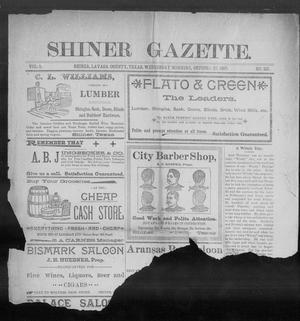 Primary view of object titled 'Shiner Gazette. (Shiner, Tex.), Vol. 5, No. 22, Ed. 1, Wednesday, October 27, 1897'.