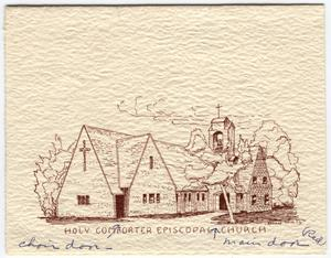 Primary view of object titled '[Sketch of the Holy Comforter Episcopal Church]'.