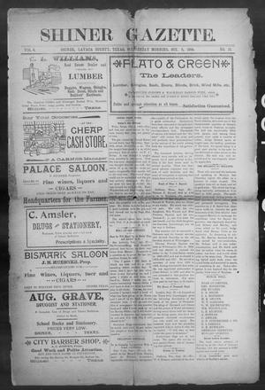 Primary view of object titled 'Shiner Gazette. (Shiner, Tex.), Vol. 6, No. 19, Ed. 1, Wednesday, October 5, 1898'.