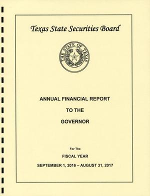 Primary view of Texas State Securities Board Annual Financial Report: 2017