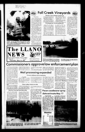 Primary view of object titled 'The Llano News (Llano, Tex.), Vol. 96, No. 29, Ed. 1 Thursday, May 14, 1987'.