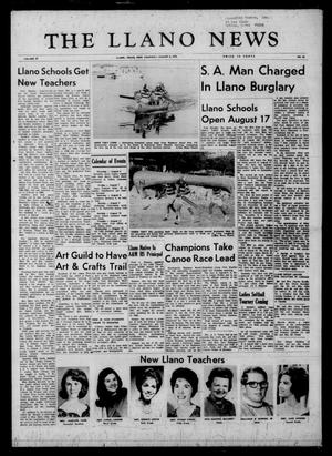 Primary view of object titled 'The Llano News (Llano, Tex.), Vol. 81, No. 38, Ed. 1 Thursday, August 6, 1970'.