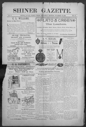 Primary view of object titled 'Shiner Gazette. (Shiner, Tex.), Vol. 7, No. 27, Ed. 1, Wednesday, November 29, 1899'.