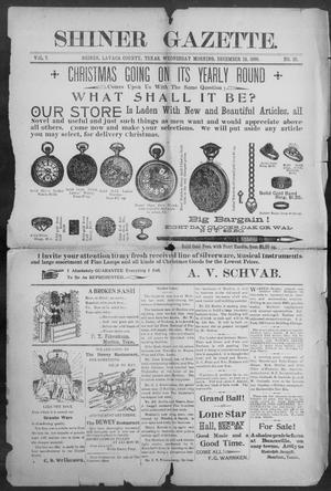 Primary view of object titled 'Shiner Gazette. (Shiner, Tex.), Vol. 7, No. 29, Ed. 1, Wednesday, December 13, 1899'.