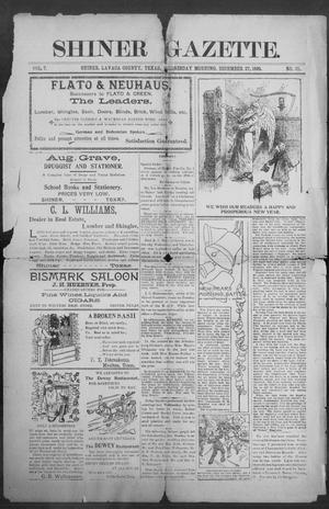 Primary view of object titled 'Shiner Gazette. (Shiner, Tex.), Vol. 7, No. 31, Ed. 1, Wednesday, December 27, 1899'.