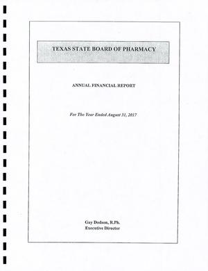 Texas State Board of Pharmacy Annual Financial Report: 2017