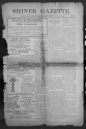 Primary view of object titled 'Shiner Gazette. (Shiner, Tex.), Vol. 7, No. 33, Ed. 1, Wednesday, January 10, 1900'.