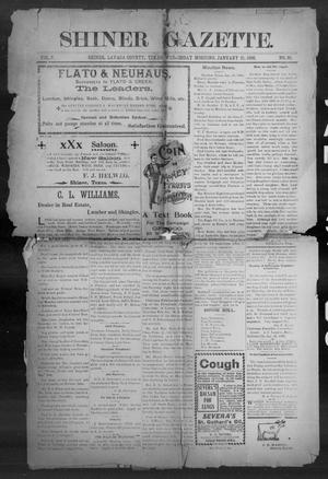 Primary view of object titled 'Shiner Gazette. (Shiner, Tex.), Vol. 7, No. 36, Ed. 1, Wednesday, January 31, 1900'.
