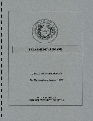 Texas Medical Board Annual Financial Report: 2017