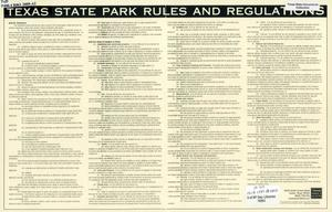 Texas Sate Park Rules and Regulations