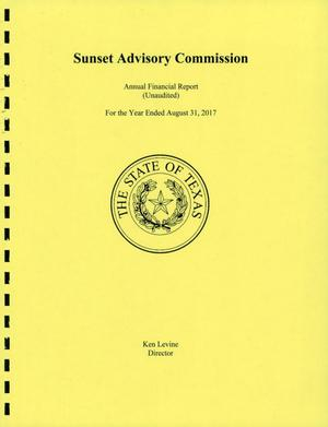 Texas Sunset Advisory Commission Annual Financial Report: 2017