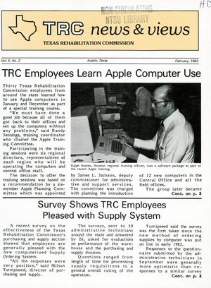 Primary view of object titled 'TRC News & Views, Volume 5, Number 2, February 1983'.