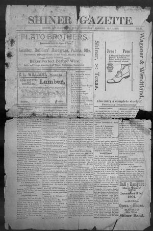 Primary view of object titled 'Shiner Gazette. (Shiner, Tex.), Vol. 9, No. 30, Ed. 1, Wednesday, January 1, 1902'.