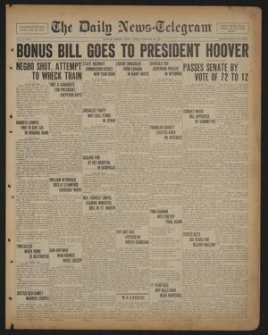 Primary view of The Daily News-Telegram (Sulphur Springs, Tex.), Vol. 33, No. 43, Ed. 1 Friday, February 20, 1931