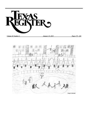 Primary view of object titled 'Texas Register, Volume 44, Number 4, Pages 375-456, January 25, 2019'.