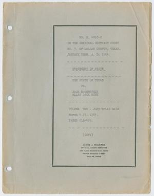 Cause Number E. 4010-J. Jury Trial: Volume 2, March 1964