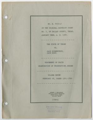 Cause Number E. 4010-J. Examination of Prospective Jurors: Volume 7, February 1964