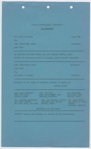 Cause Number E. 4010-J. Full Proceedings, 1963-1964, Second Supplemental Transcript