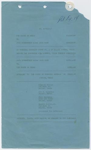 Cause Number E. 4010-J. Full Proceedings, 1963-1964