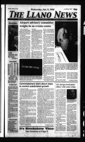 The Llano News (Llano, Tex.), Vol. 120, No. 15, Ed. 1 Wednesday, January 9, 2008